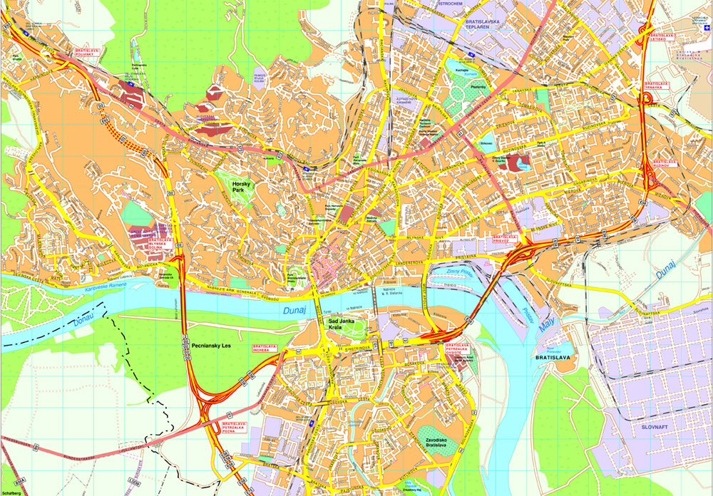 Bratislava Vector map Eps Illustrator Map Our cartographers have
