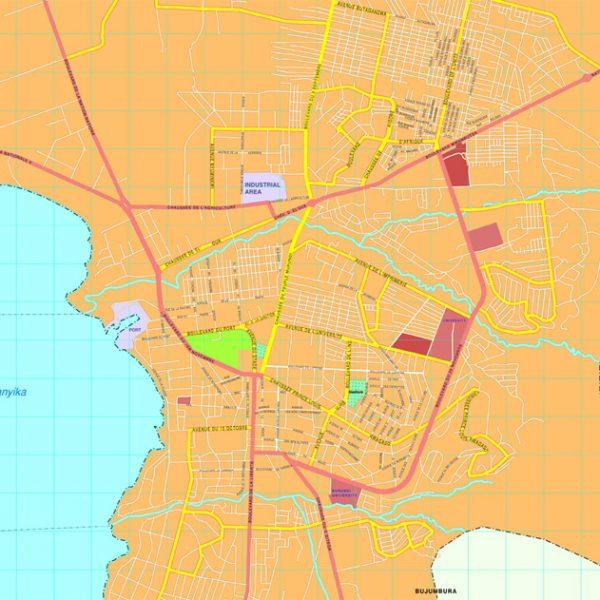 Bujumbura map