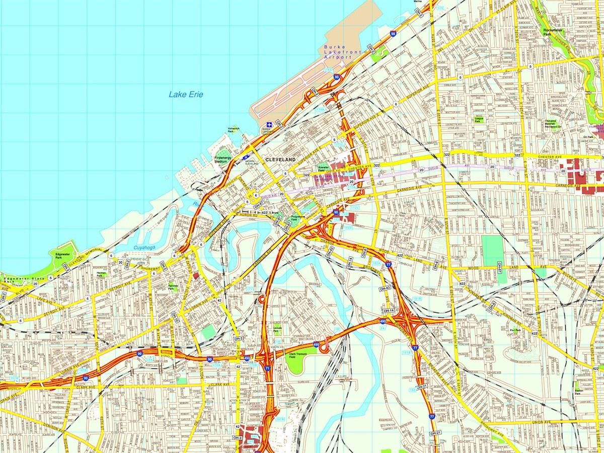 Cleveland map on