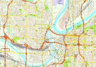Kansas City map. Eps Illustrator Vector City Maps USA America. Eps ...