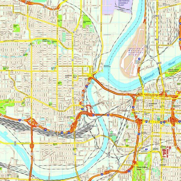 North America City vector USA maps eps city maps of USA Street