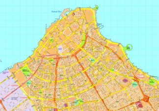 Kuwait city map