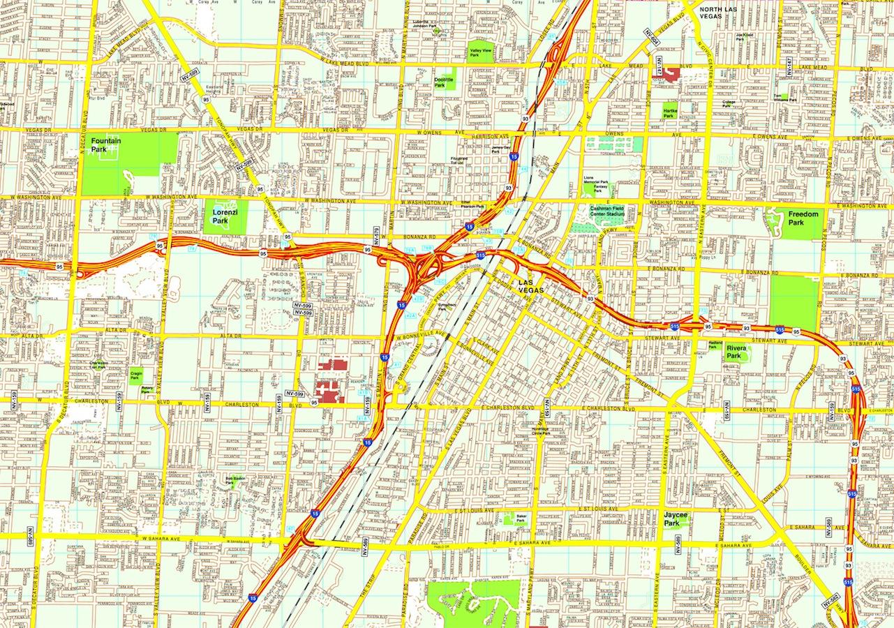 Las Vegas map. Eps Illustrator Vector City Maps USA America. Eps ...