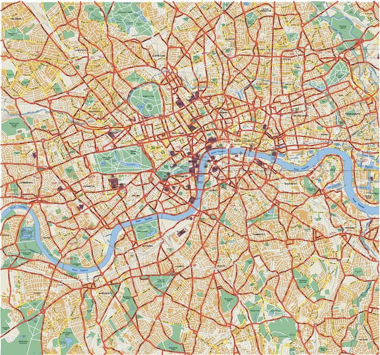 London Vector map