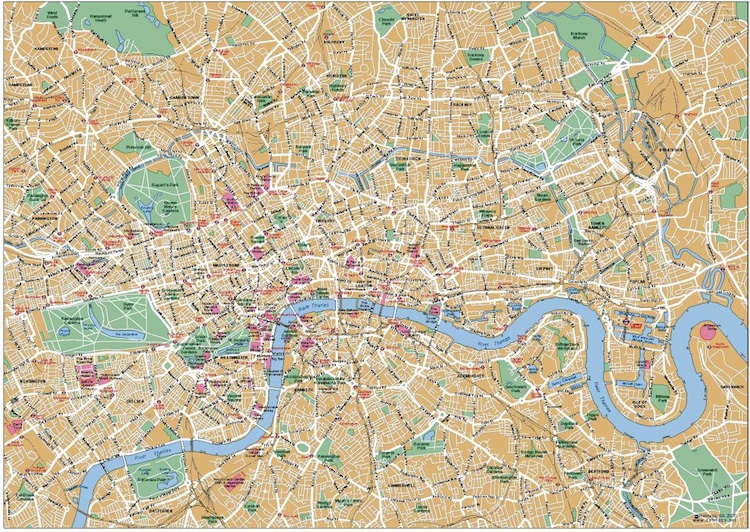 Map Downtown London.London Downtown Map