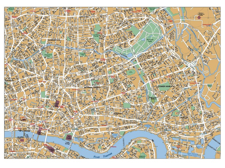 London West End map