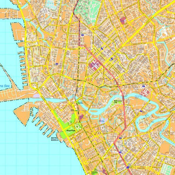 Manila map