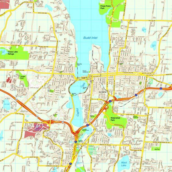 North America City Vector USA Maps Eps City Maps Of USA Street - North america cities map
