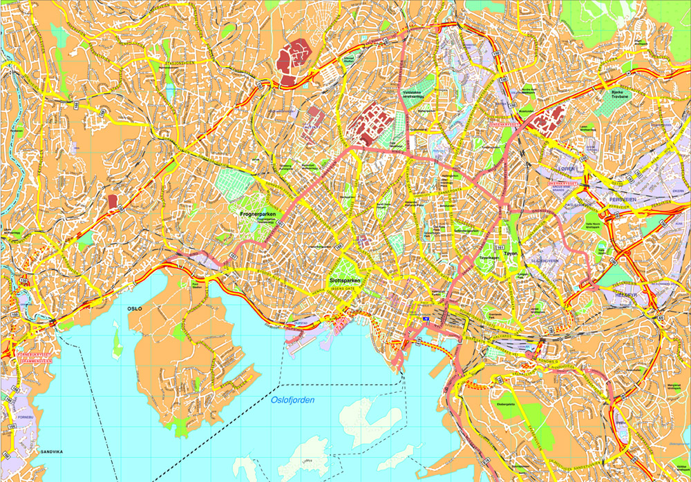 Oslo Vector map Eps Illustrator Map Our cartographers have made