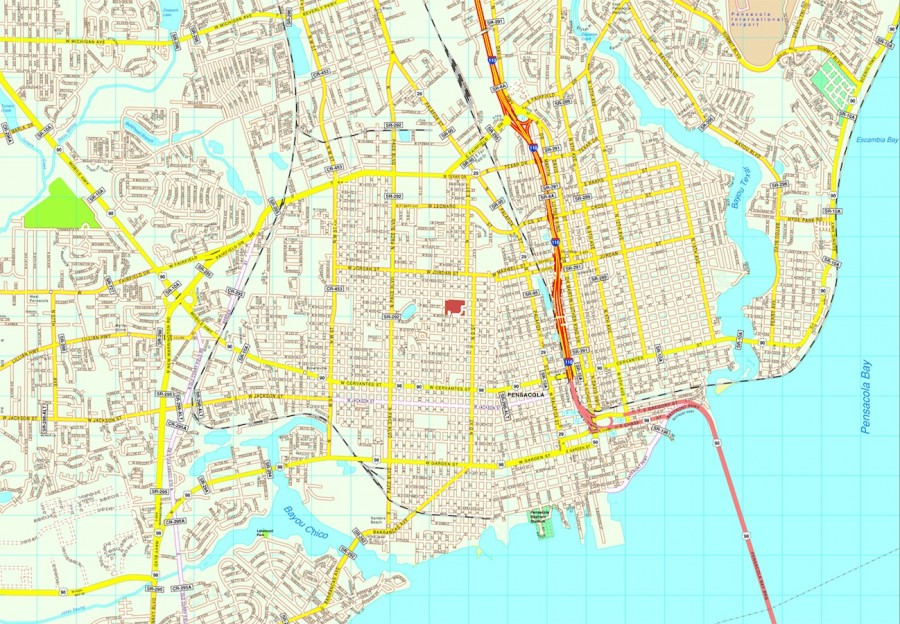 Pensacola map