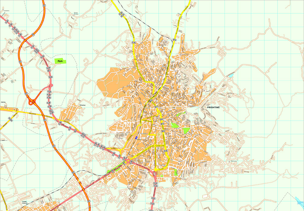 Pristina Vector Map Eps Illustrator Map Our Cartographers Have - pristina map