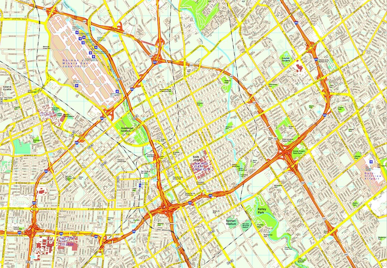 North America City vector maps eps city maps of North America