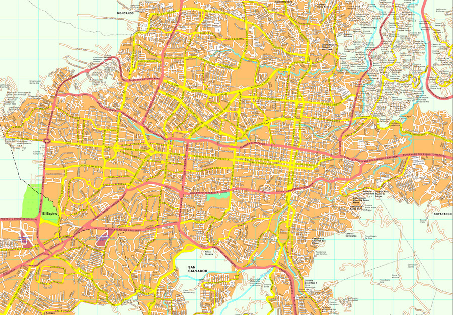 San Salvador map