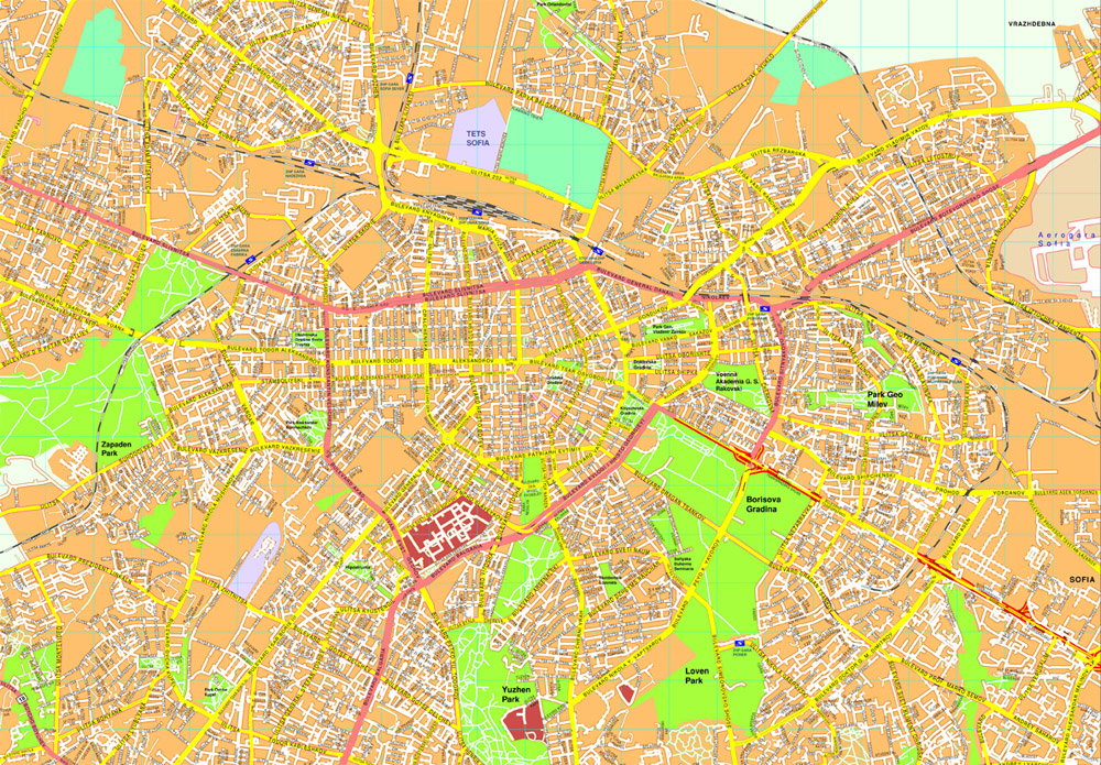 Sofia Vector map Eps Illustrator Map Our cartographers have made
