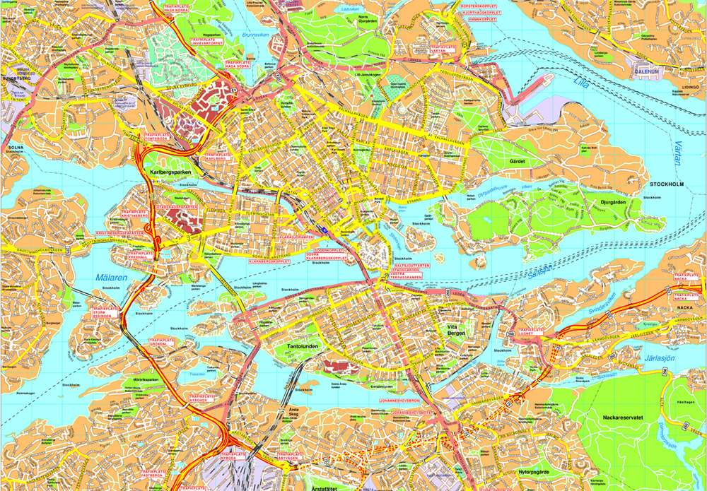 Stockholm Vector map Eps Illustrator Map Our cartographers have