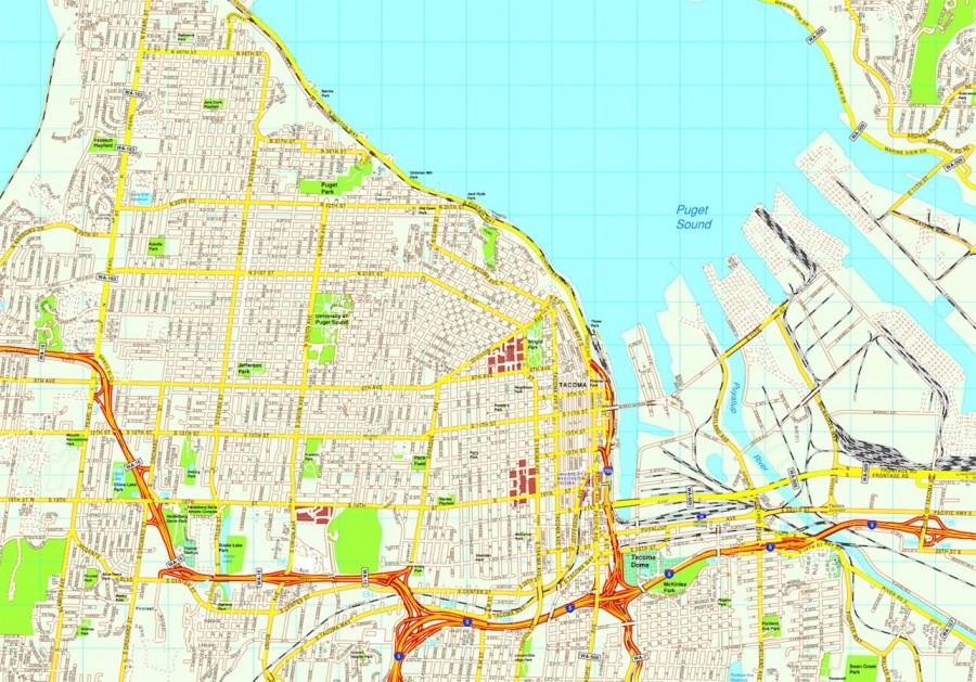 Tacoma map