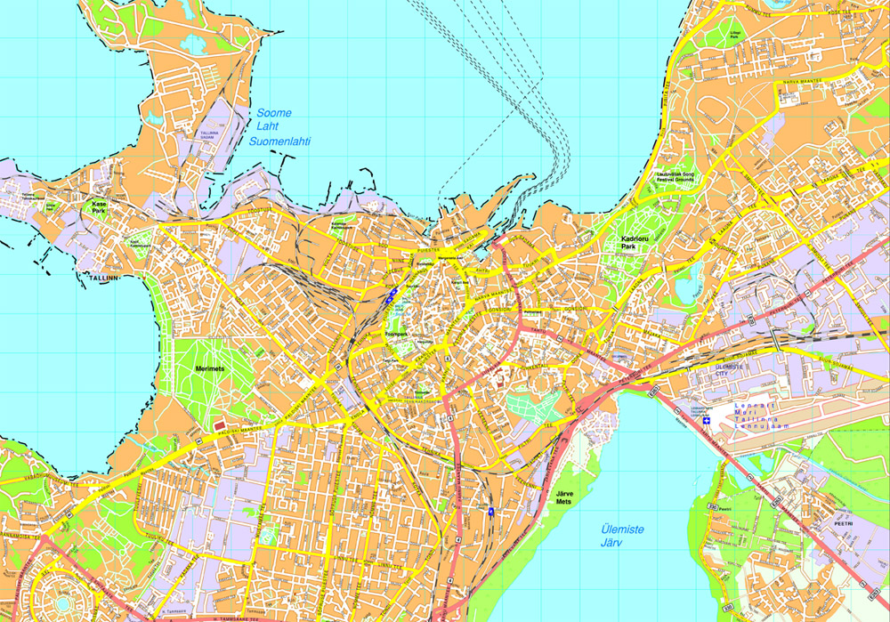 Tallinn Vector Map Eps Illustrator Map Our Cartographers Have - Tallinn map
