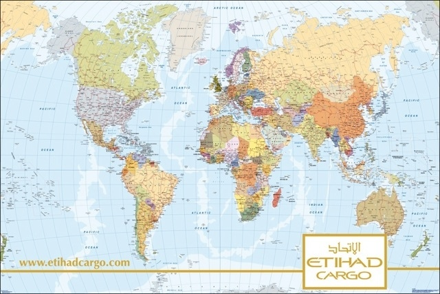 World map Etihad