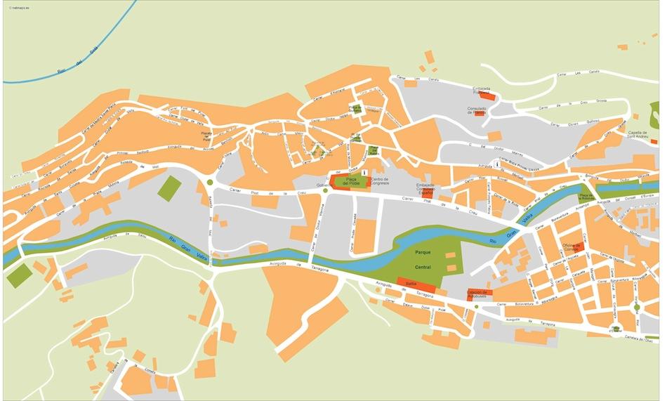 Andorra La Vella Vector Map Eps Illustrator Map Vector World Maps