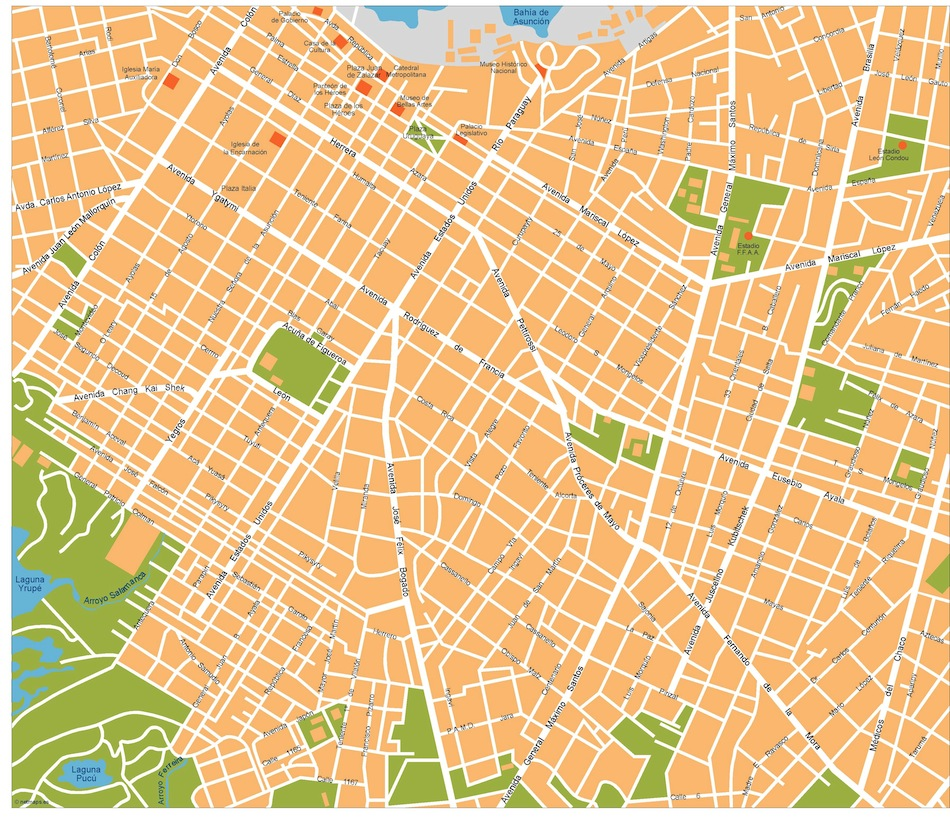 Asuncion vector map Eps Illustrator Vector Mapas Eps Illustrator