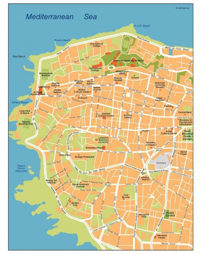 beirut vector map