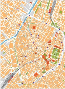 brussels vector map