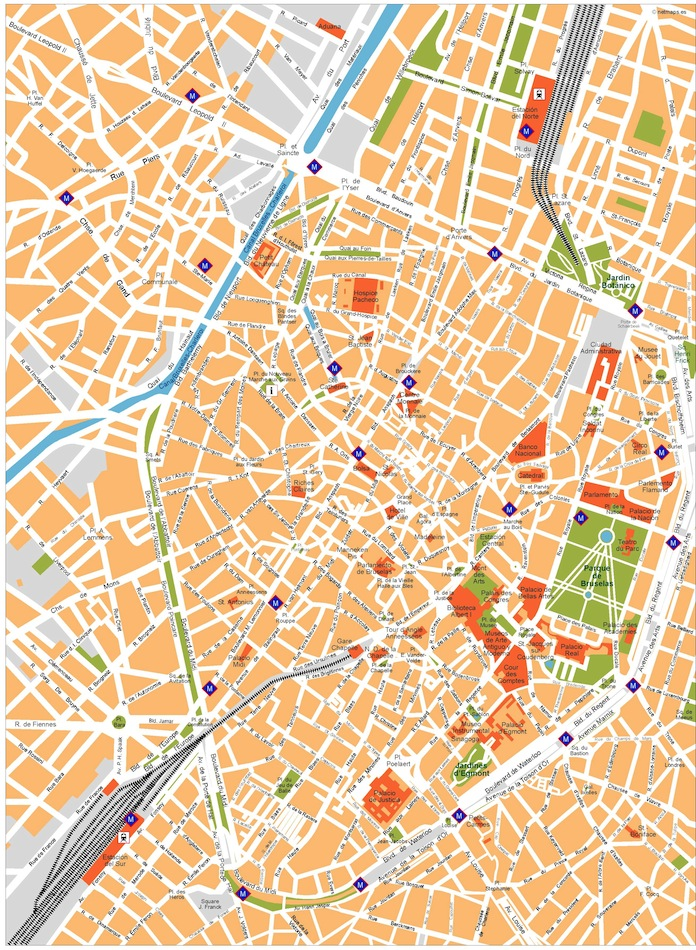 Brussels vector map. Eps Illustrator Map | Vector World Maps