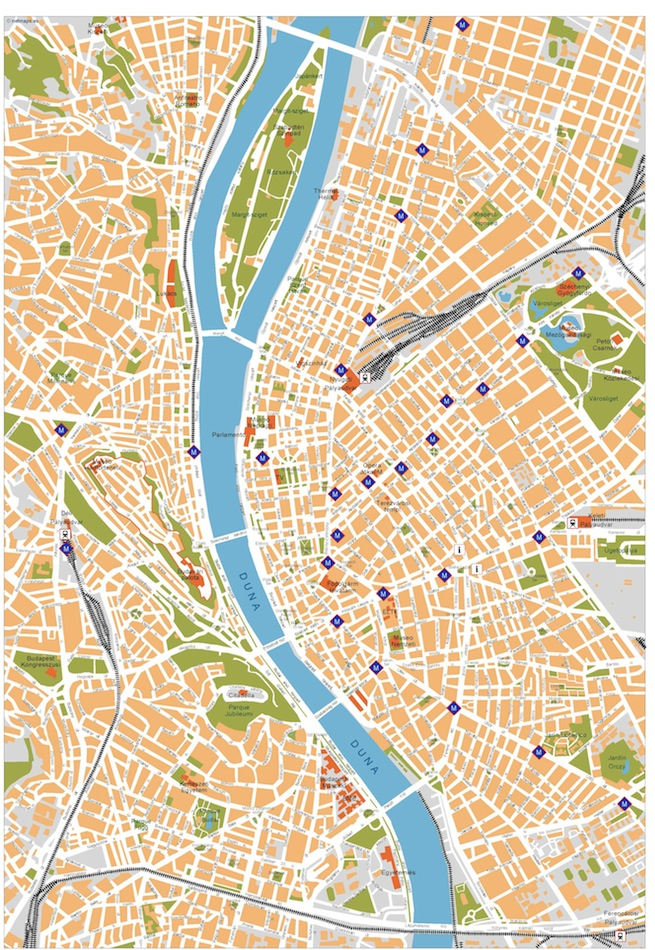 budapest vector map