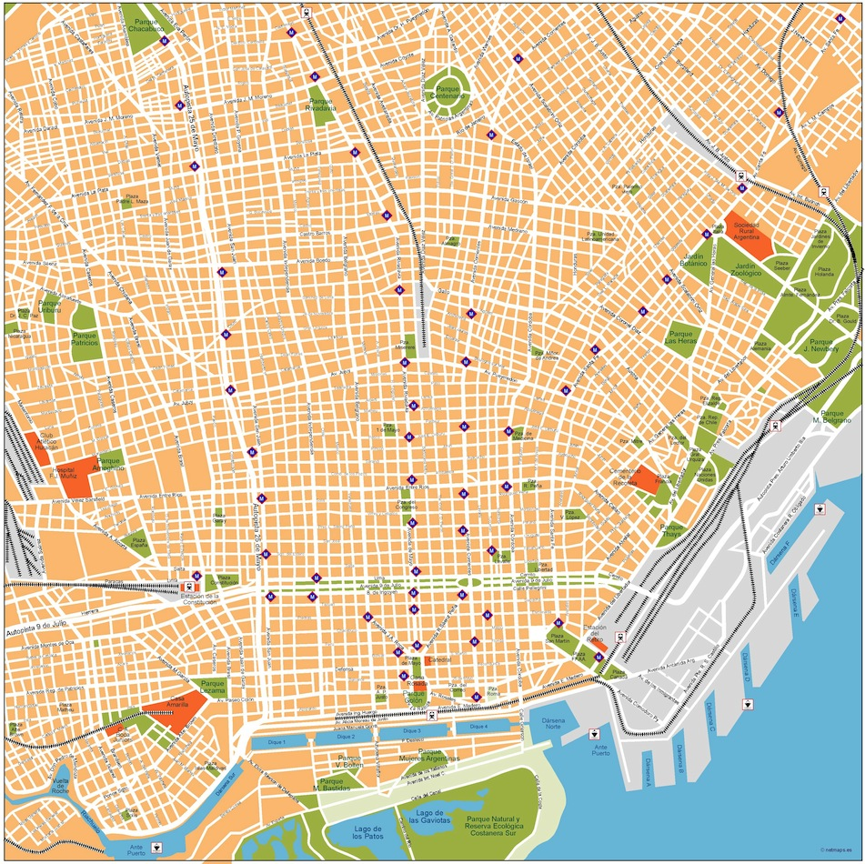 South America City vector maps. eps city maps of South America ...