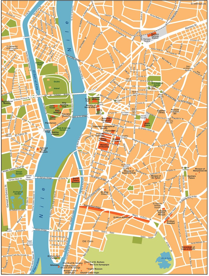 Cairo vector map. Eps Africa City Map. Illustrator Vector Maps. Eps ...
