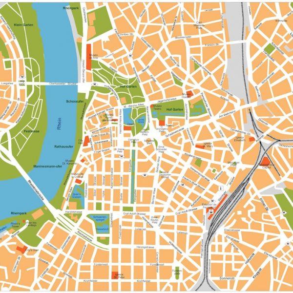dusseldorf vector map