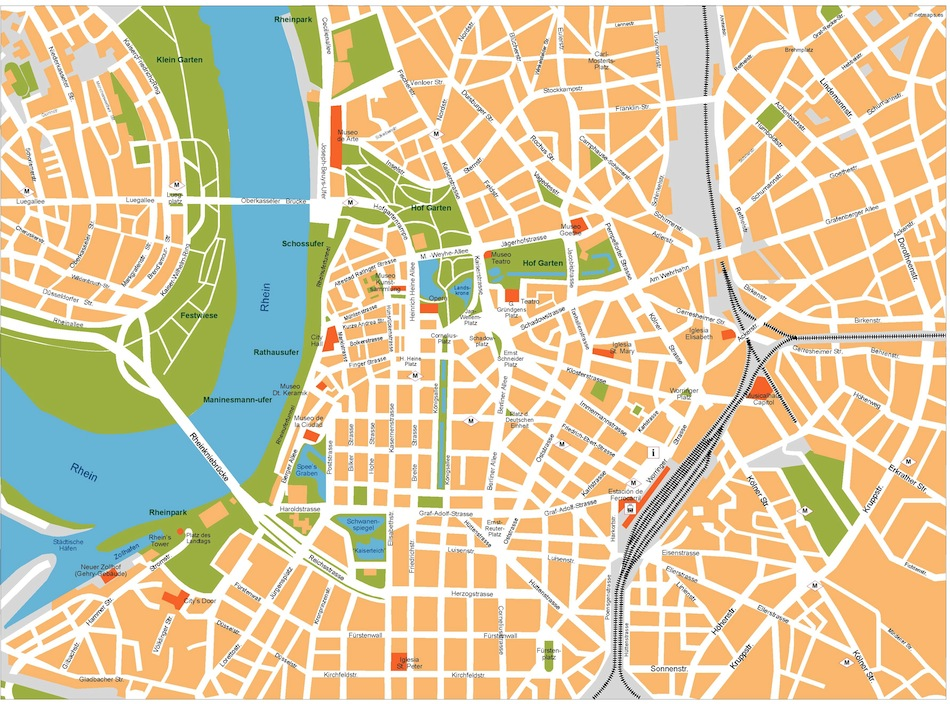 dusseldorf vector map