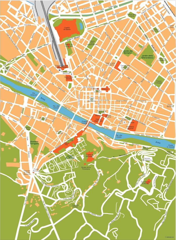 Florence vector map Eps Illustrator Map Our cartographers have