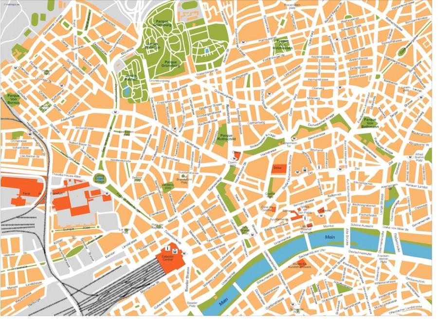 frankfurt vector map