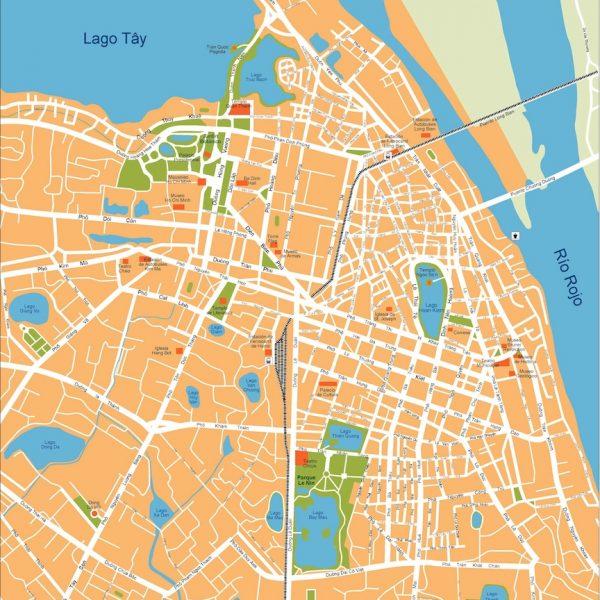 hanoi vector map