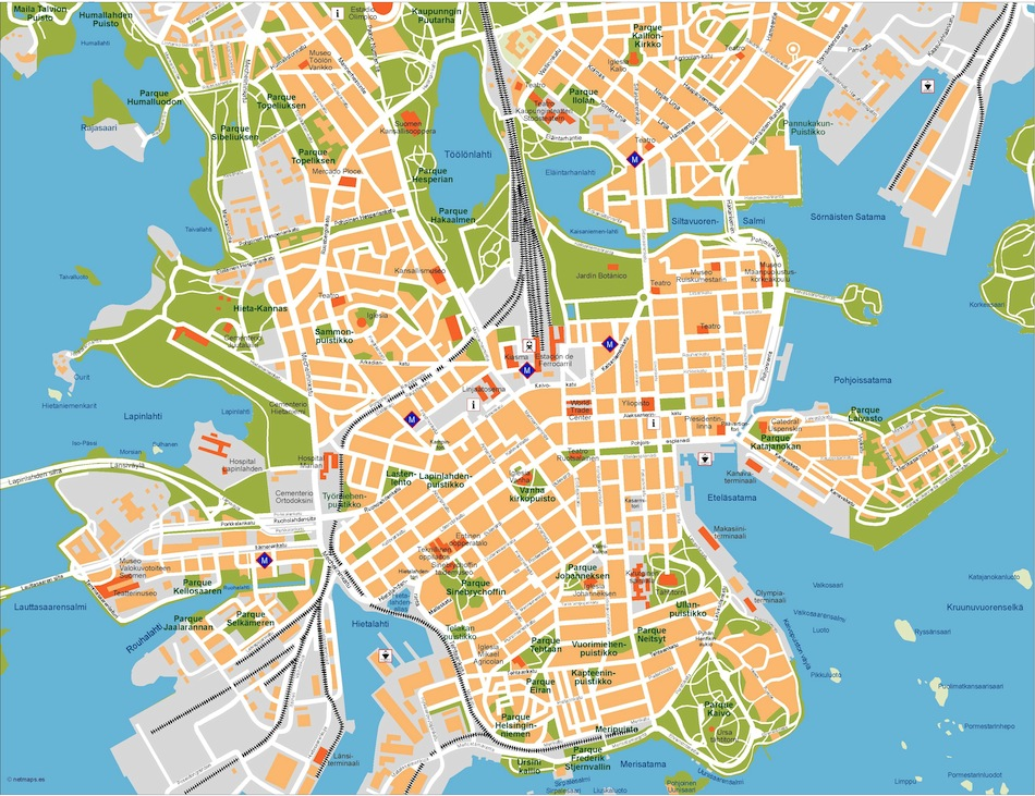 Helsinki Vector Map Eps Illustrator Map Vector World Maps