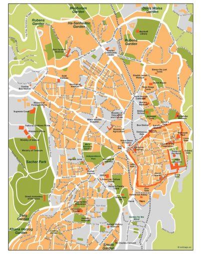 jerusalem vector map