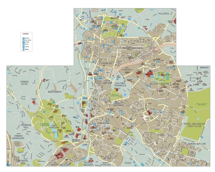 kuala lumpur vector map
