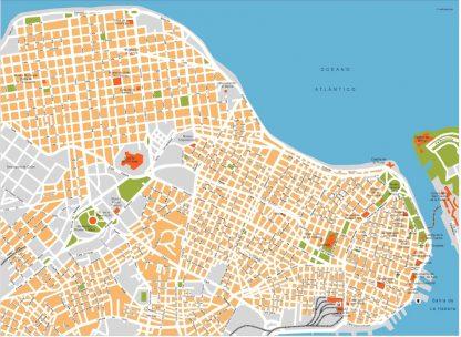 la habana vector map