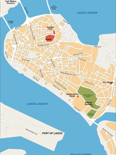 lagos vector map