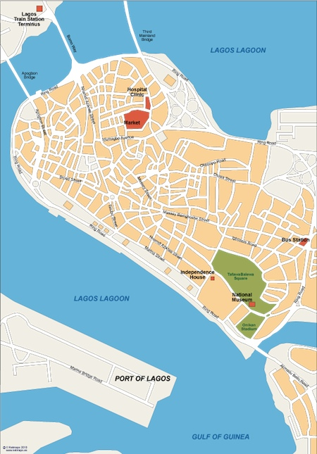 lagos vector map