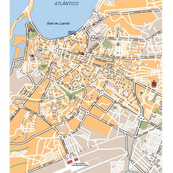 luanda vector map