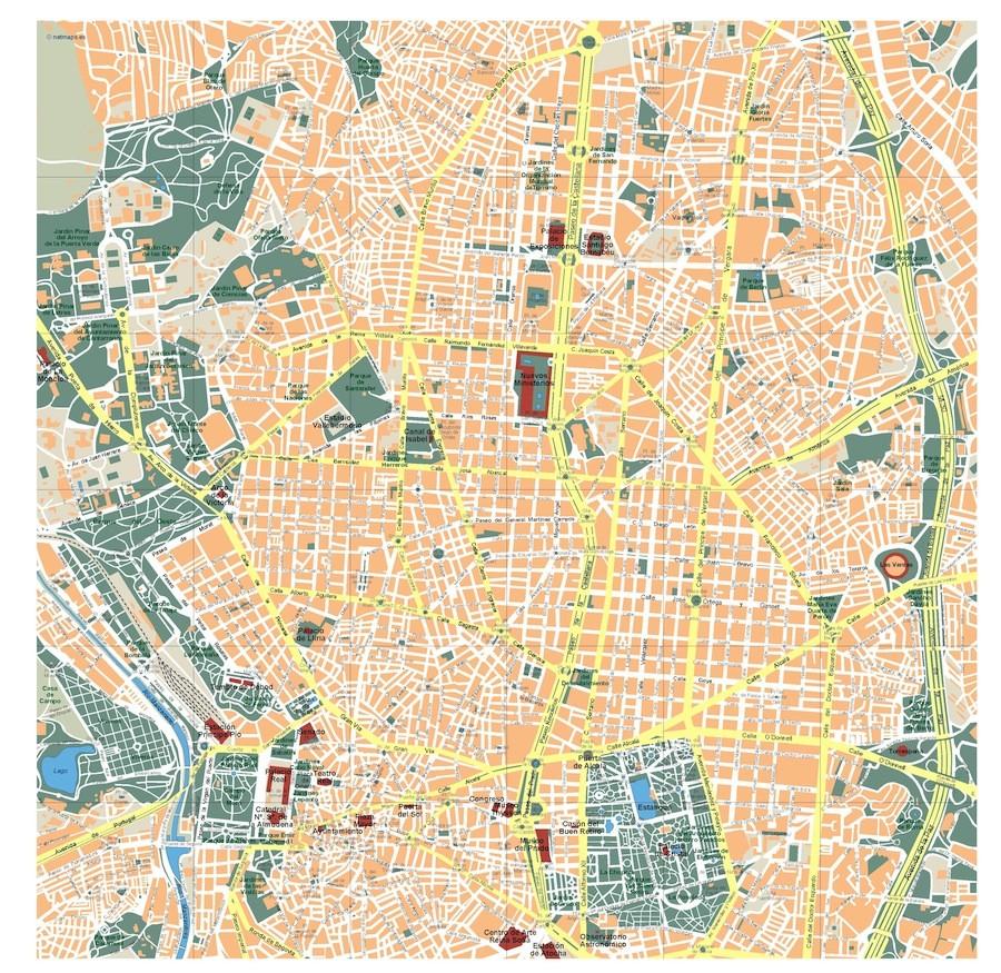 madrid vector map