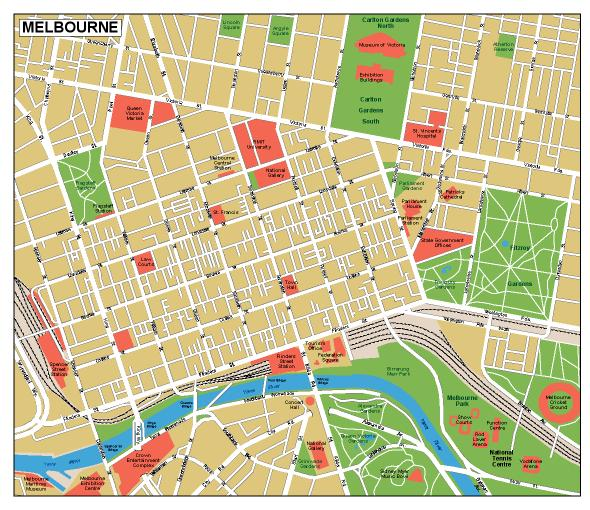 melbourne vector map