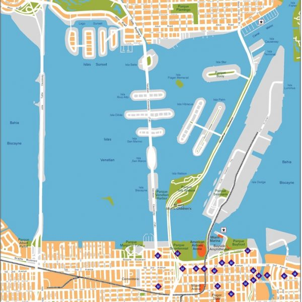 miami vector map