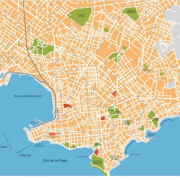 montevideo vector map