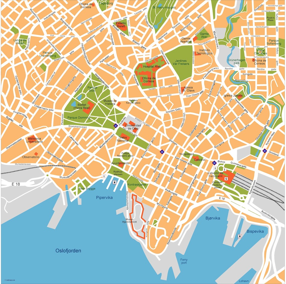oslo vector map