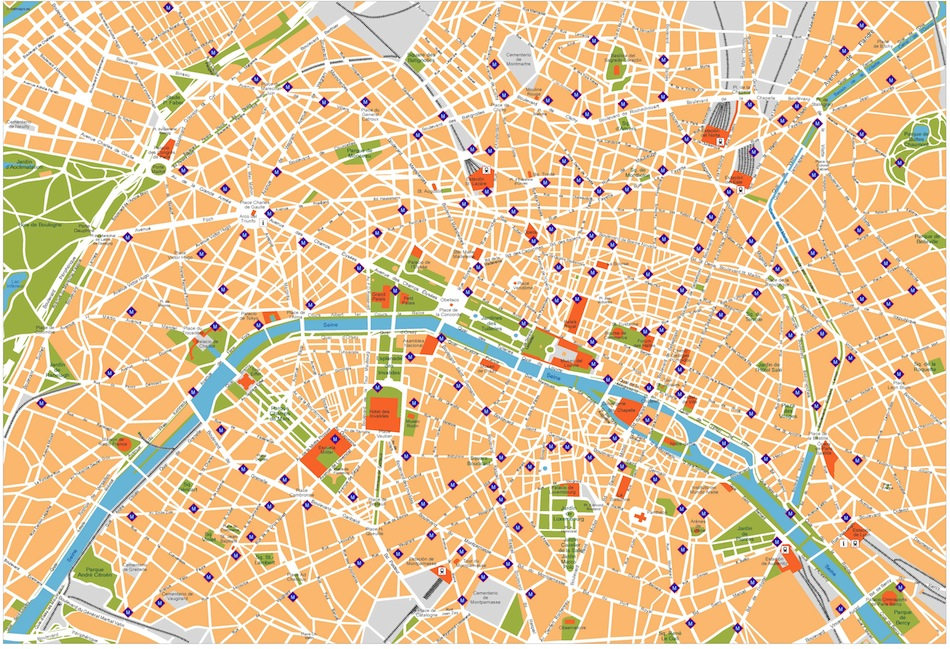 Paris vector map. Eps Illustrator Map | Vector World Maps