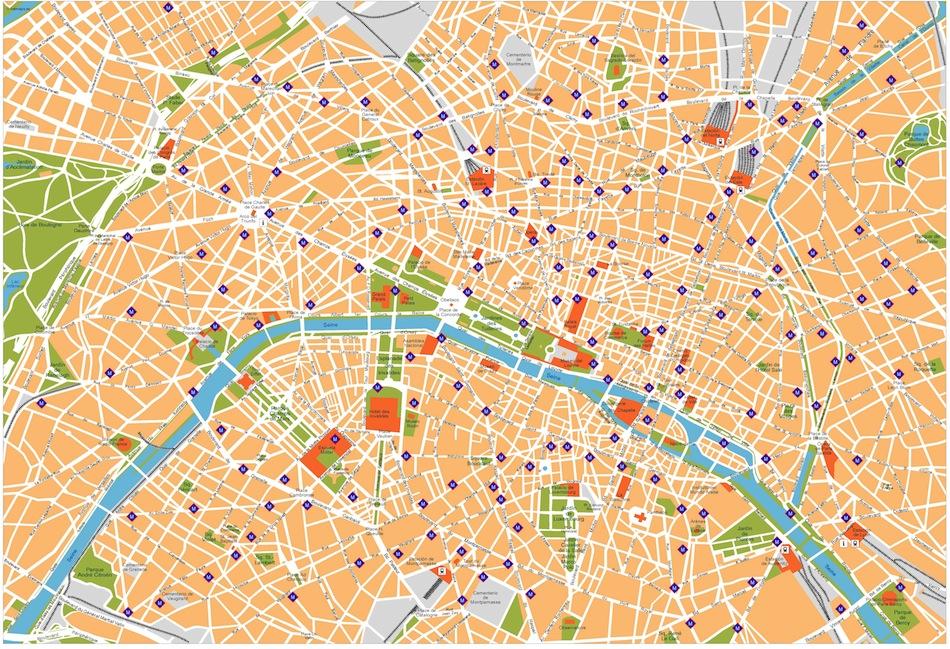 Paris vector map. Eps Illustrator Map | Vector World Maps