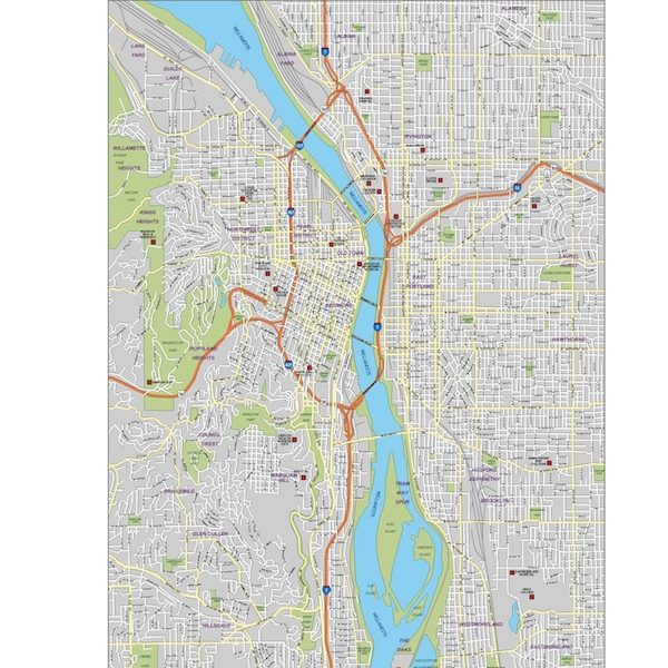 portland city map